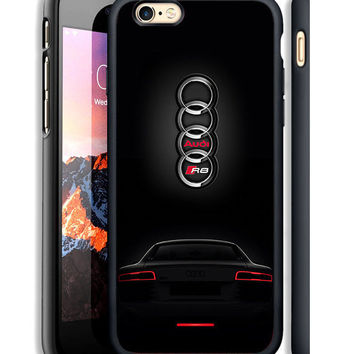 Audi R8 Black Special Custom For iPhone 6/6s,6/6s+,7,7+ Print On Hard Case