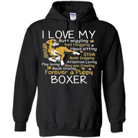 I Love My Puppy Boxer Butt Wiggling - Funny Boxer Dog Shirt