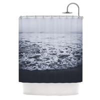 "Leah Flores ""Out to Sea"" Gray Coastal Shower Curtain"