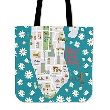 New York City Linen Tote Bag