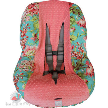 Love Bliss with Coral Toddler Car Seat Cover