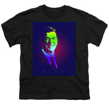 Portrait Of President Reagan 1981 Poster - Youth T-Shirt