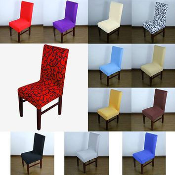 New Seatcover Fashion Multicolor Optional Soft Contracted For Restaurant Hotel Home Elastic Chair Cover E2shopping