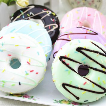 Drop ship Squishy Squeeze Relieve Stress Toy anti stress soft squishies toys Colourful Doughnut Scented Squishy Toy Slow Rising