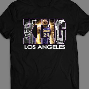 THE KING OF LOS ANGELES BASKETBALL LEBRON JAMES ART T-SHIRT