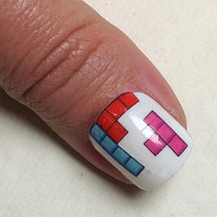 Tetris Nail Decals