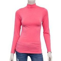 Lord and Taylor Long Sleeve Coral Turtleneck Top Size XS Retail $68 *NWT*