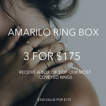 Amarilo Ring Stack Gift Box