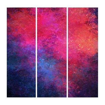 'Happy Feelings' Colorful Contemporary Abstract Triptych