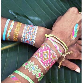 Colorful Waterproof Metallic Temp Tattoo