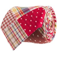 Patchwork Plaid Tie in Red by Southern Proper