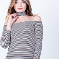 Choker Striped Top