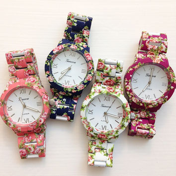 Flower Metal  Watches #W70
