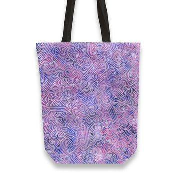 Purple and faux silver swirls doodles Totebag by Savousepate from €25.00 | miPic