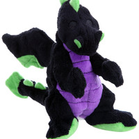goDog Baby Dragon Plush Dog Toy Size: Small Black