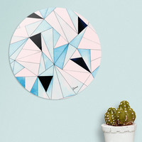 «Geometric Washout», Limited Edition Disk Print by Uma Gokhale - From $99 - Curioos