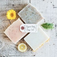 Poppy Soap Co: Organic Body Bar Soaps, Set of 3