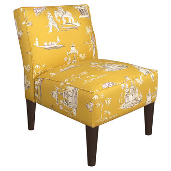 Finnegan Armless Chair, Butterscotch, Accent & Occasional Chairs