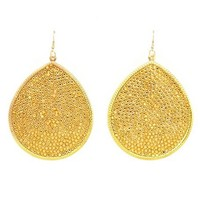Rhinestone-Topped Teardrop Earrings: Charlotte Russe