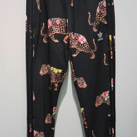adidas Originals Flower Leopard Print Running Pants Sweatpants