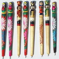 Hand Painted Wood Pens