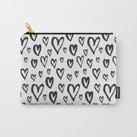 Inky Dinky Hearts Carry-All Pouch by All Is One
