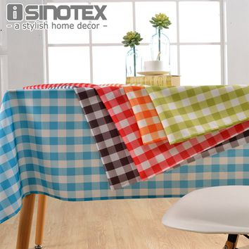 Lattice Party Table Cover Cloth  Plaid Tablecloth Yarn Dyed Plain Tablecloths Home Dining Room 1pcs/lot