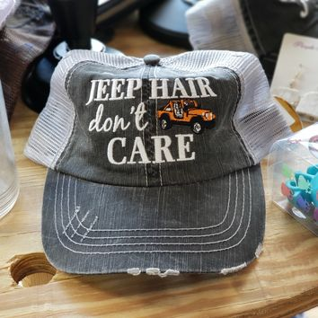 Jeep Hair, Don't Care Hat - 6 Colors