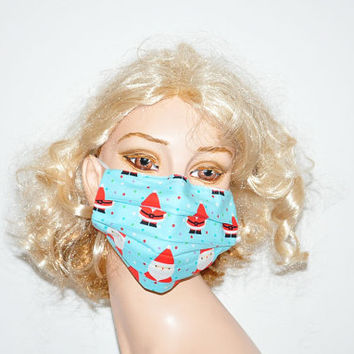 Santa Claus, Christmas, Cotton face mask, funny mask, medical mask, surgical mask, cold wind protection