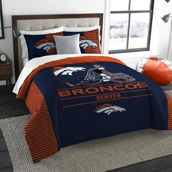 "Denver Broncos NFL ""Draft"" King Comforter & Sham Set"