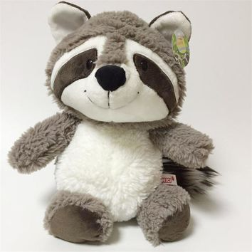 2018 New Cute Big Tail Raccoon Plush Toy Cartoon Raccoons Bear Soft Stuffed Animals Dolls Kids Friends Gift 35cm