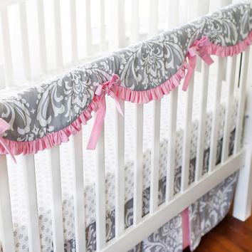 New Arrivals Stella Gray Crib Rail Cover