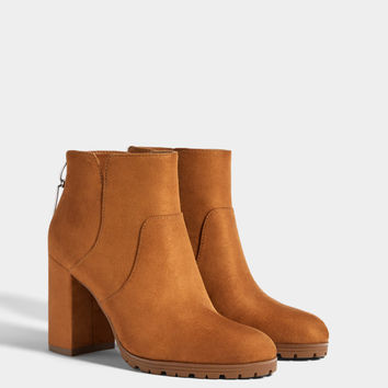 Zip-up high-heel ankle boots - Boots & Ankle boots - Bershka United States
