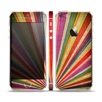 The Vinatge Sprouting Ray of colors Skin Set for the Apple iPhone 5s