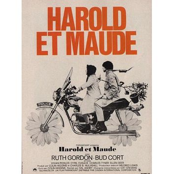 Harold And Maude French poster Metal Sign Wall Art 8inx12in