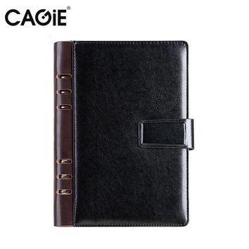 CAGIE 2017 Vintage a5 Notebook Leather Spiral a6 Planner Binder Organizer Agenda Day Plan Business Office Gifts Cover Notebooks