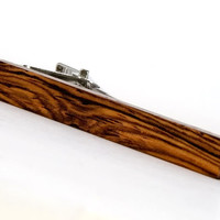 Honduran Rosewood Tie Bar - Wooden Tie Clip - Gift for Wedding, Fathers Day, Groomsmen, Anniversary