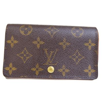 Auth LOUIS VUITTON Tresor Bifold Wallet Purse Monogram Leather BN M61730 03BE221