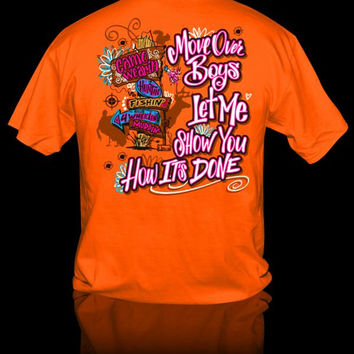 Sweet Thing Hunting Fishing 4 Wheel Camo Mud Girlie Bright T Shirt