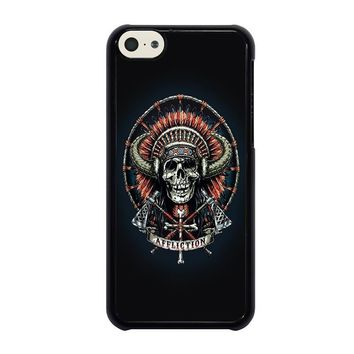 affliction indian skull iphone 5c case cover  number 1
