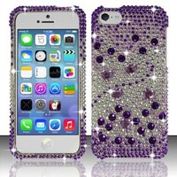 Iphone 5c - Full Diamond Design Cover - Purple Beats FPD (LEIE8)