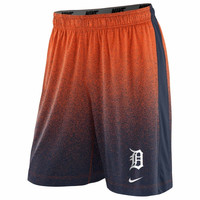 Nike Detroit Tigers 2014 Cage Performance Shorts - Orange/Navy Blue