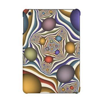 Flying Up, Colorful, Modern, Abstract Fractal Art iPad Mini Covers