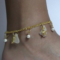 Starfish Anklet in Gold