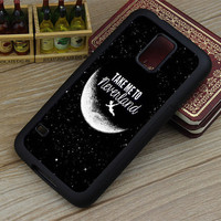 Samsung Galaxy S5 case,Peter Pan, Take to me neverland Samsung Galaxy S4 case,Galaxy S3 case,Samsung Galaxy S5 S4 S3 cover Hard rubber case