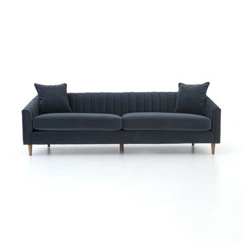 RAINEY MODERN VELVET SHADOW SOFA 96""