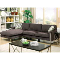 Furniture of America Harlin Modern Taupe Grey Chenille Sectional | Overstock.com Shopping - The Best Deals on Sectional Sofas