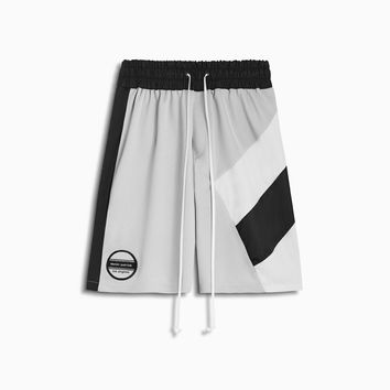 LA shorts / silver grey + black + ivory