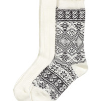 H&M 2-pack Wool-blend Socks $12.99