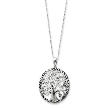 Sterling Silver Tree of Life Sentimental Expressions Necklace